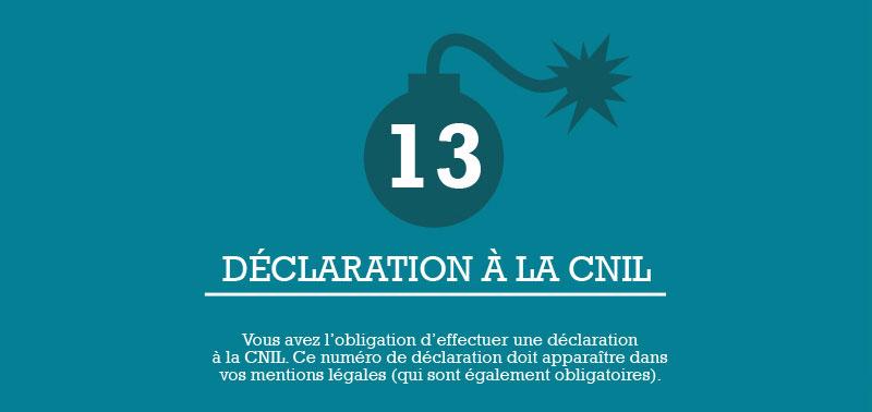 Infographie e-commerce - Etape 13 - Déclaration à la CNIL