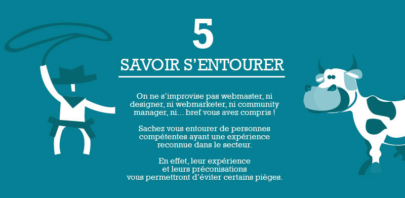 Infographie e-commerce - Etape 5 - Savoir s'entourer