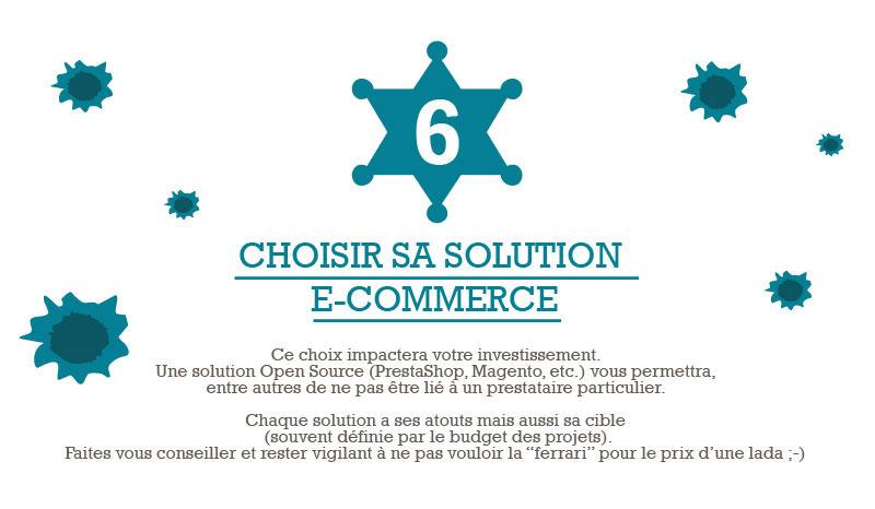Infographie e-commerce - Etape 6 - Choisir sa solution e-commerce
